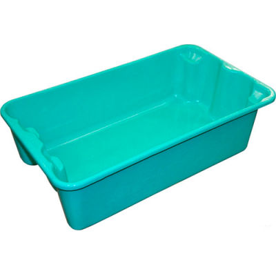 """Molded Fiberglass Nest and Stack Tote 780208 - 17-7/8"""" x10""""-5/8"""" x 5"""",Green - Pkg Qty 10"""