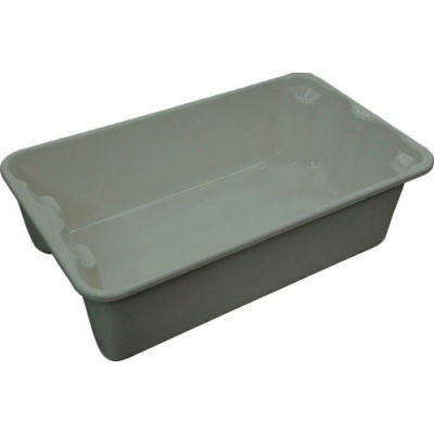 "Molded Fiberglass Toteline Nest and Stack Tote 780208 - 17-7/8"" x10""-5/8"" x 5"" Gray - Pkg Qty 10"
