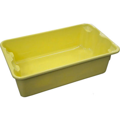 """Molded Fiberglass Nest and Stack Tote 780208 - 17-7/8"""" x10""""-5/8"""" x 5"""" Yellow - Pkg Qty 10"""