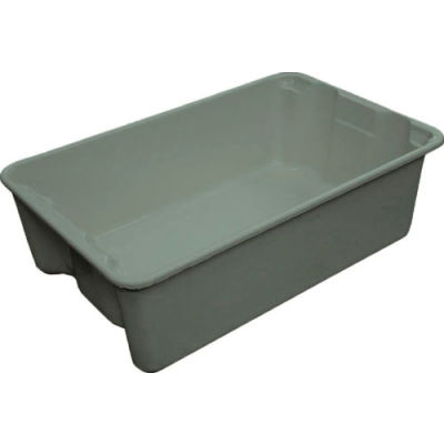 "Molded Fiberglass Toteline Nest and Stack Tote 780308 - 19-3/4"" x 12-1/2"" x 6"" Gray - Pkg Qty 10"