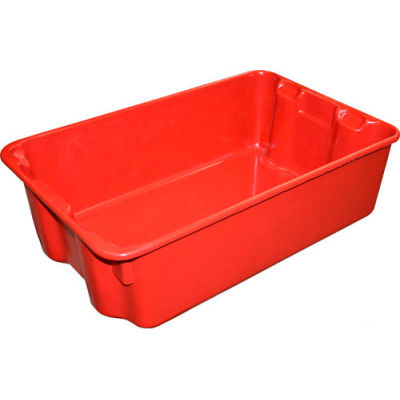 """Molded Fiberglass Nest and Stack Tote 780308 - 19-3/4"""" x 12-1/2"""" x 6"""" Red - Pkg Qty 10"""