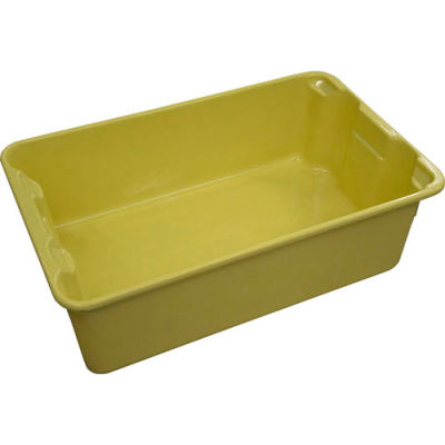 """Molded Fiberglass Nest and Stack Tote 780308 - 19-3/4"""" x 12-1/2"""" x 6"""" Yellow - Pkg Qty 10"""