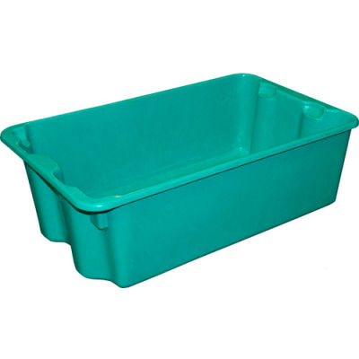 """Molded Fiberglass Nest and Stack Tote 780508 - 24-1/4"""" x 14-3/4"""" x 8"""" Green - Pkg Qty 10"""