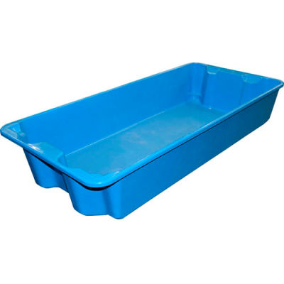 """Molded Fiberglass Nest and Stack Tote 780108 with Wire - 42-1/2"""" x 20"""" x  7-1/2"""", Pkg Qty 5, Blue - Pkg Qty 5"""