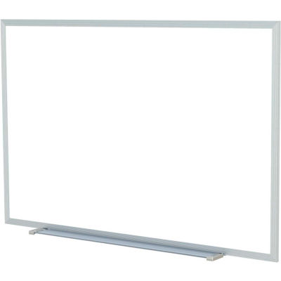 "Ghent 60 x 48""H Aluminum Frame Non-Magnetic Whiteboard w/1 Marker and Eraser, Made in USA"