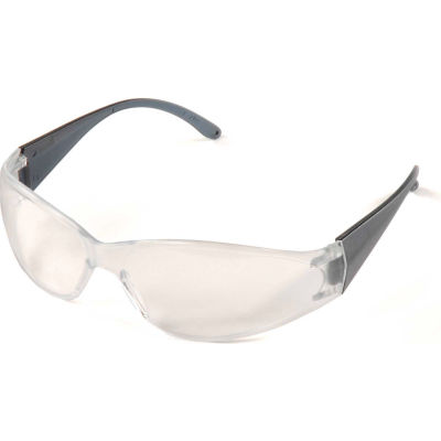 ERB™ 15281 Boas Safety Glasses, Smoke Frame, Clear Lens