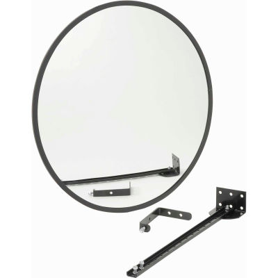 """Round Glass Convex Mirror, Outdoor, 18"""" Dia., 160° Viewing Angle"""