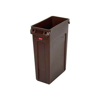 Rubbermaid® Slim Jim® 1956187 Recycling Container, 23 Gallon - Brown