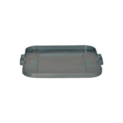 Flat Lid For 28 Gallon Square Rubbermaid Brute Waste Receptacles - Gray