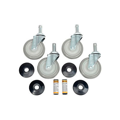 "Nexel® Stem Casters Set of (4) 5"" Polyurethane Wheel 1200 Lb. Capacity"