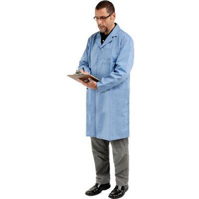 Unisex Microstatic ESD Lab Coat - Blue, M