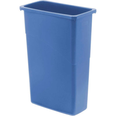 Rubbermaid® Slim Jim® 1956185 Recycling Container, 23 Gallon - Blue