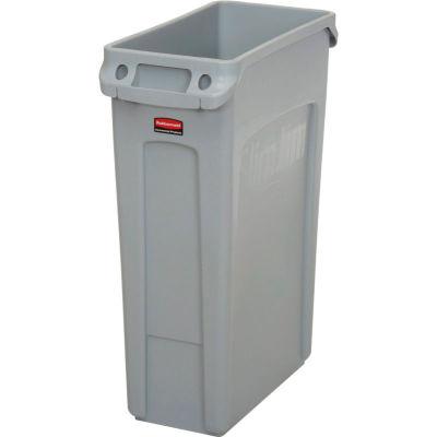 Rubbermaid® Slim Jim® Recycling Can, 23 Gallon, Gray