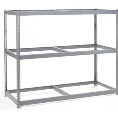 """Global Industrial™ Additional Level For Wide Span Rack 60""""Wx24""""D No Deck 1200 Lb Capacity, Gray"""