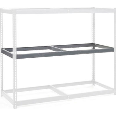"""Global Industrial™ Additional Level For Wide Span Rack 96""""Wx24""""D No Deck 1100 Lb Capacity, Gray"""
