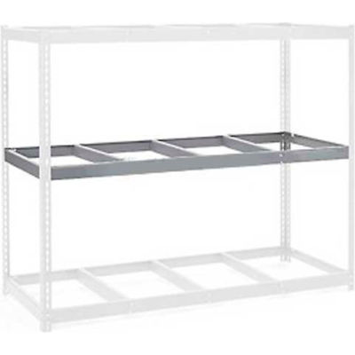 """Global Industrial™ Additional Level For Wide Span Rack 96""""W x 24""""D No Deck 800 Lb Capacity, Gry"""