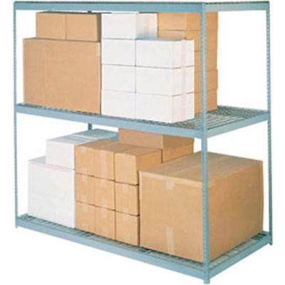 Global Industrial™ Wide Span Rack 60Wx48Dx84H, 3 Shelves Wire Deck 1200 Lb Cap. Per Level, Gray