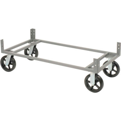"""Global Industrial™ 60""""Wx24""""D Gray Dolly Base Without Casters"""