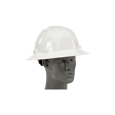 ERB™ 19911 Omega II Full Brim Hard Hat, 6-Point Ratchet Suspension, White