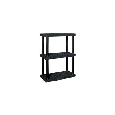"""Structural Plastic Vented Shelving, 36""""W x 16""""D x 51""""H, Black"""
