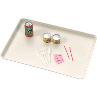 MFG Molded Fiberglass 26 x 18 Off-White Fiberglass Component & Food Service Tray 332008-5218 - Pkg Qty 12