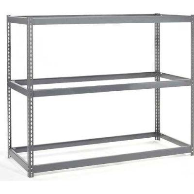Global Industrial™ Wide Span Rack 48Wx48Dx60H, 3 Shelves No Deck 1200 Lb Cap. Per Level, Gray