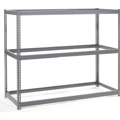 Global Industrial™ Wide Span Rack 72Wx15Dx60H, 3 Shelves No Deck 900 Lb Cap. Per Level, Gray