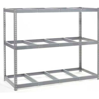 Global Industrial™ Wide Span Rack 96Wx36Dx 60H, 3 Shelves No Deck 800 Lb Cap. Per Level, Gray