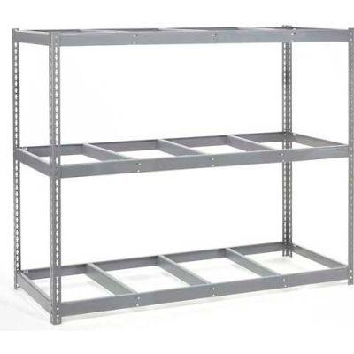 Global Industrial™ Wide Span Rack 96Wx48Dx60H, 3 Shelves No Deck 800 Lb Cap. Per Level, Gray