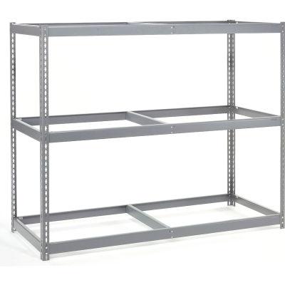 Global Industrial™ Wide Span Rack 72Wx24Dx84H, 3 Shelves No Deck 900 Lb Cap. Per Level, Gray