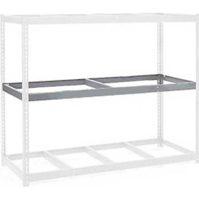 """Global Industrial™ Additional Level For Wide Span Rack 72:""""Wx24""""D No Deck 900 Lb Capacity, Gray"""
