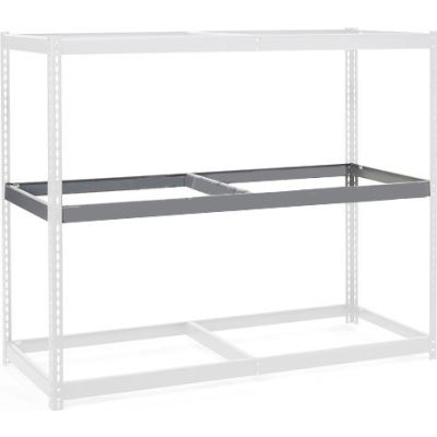 "Global Industrial™ Additional Level For Wide Span Rack 72""W x 36""D No Deck 900 Lb Capacity, Gry"
