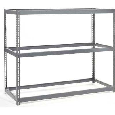 Global Industrial™ Wide Span Rack 48Wx48Dx84H, 3 Shelves No Deck 1200 Lb Cap. Per Level, Gray