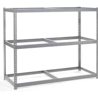 Global Industrial™ Wide Span Rack 60Wx36Dx84H, 3 Shelves No Deck 1200 Lb Cap. Per Level, Gray