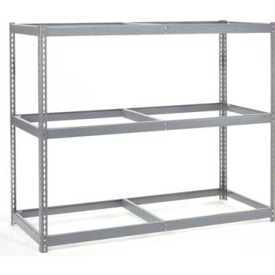 Global Industrial™ Wide Span Rack 60Wx48Dx84H, 3 Shelves No Deck 1200 Lb Cap. Per Level, Gray