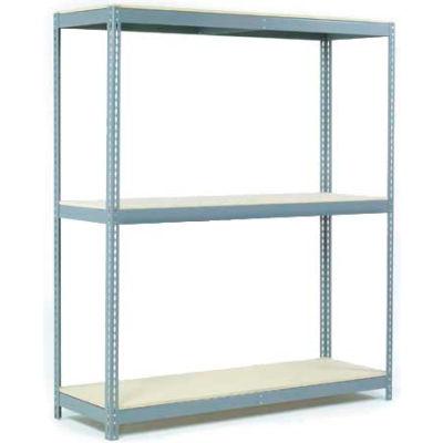 Global Industrial™ Wide Span Rack 72Wx48Dx60H, 3 Shelves Wood Deck 900 Lb Cap. Per Level, Gray