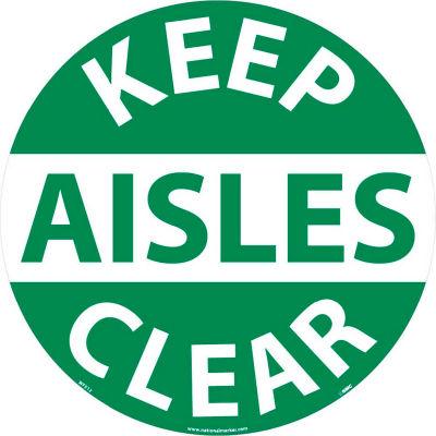 Floor Signs - Keep Aisles Clear