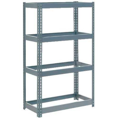 """Global Industrial™ Extra Heavy Duty Shelving 36""""W x 18""""D x 60""""H With 4 Shelves, No Deck, Gray"""