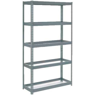 """Global Industrial™ Extra Heavy Duty Shelving 48""""W x 12""""D x 96""""H With 5 Shelves, No Deck, Gray"""