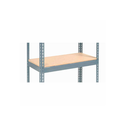 "Global Industrial™ Additional Shelf Level Boltless Wood Deck 48""W x 24""D - Gray"
