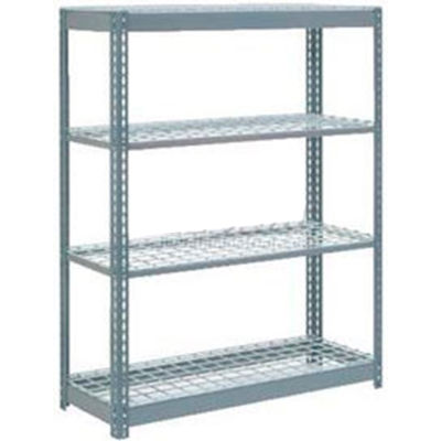 """Global Industrial™ Heavy Duty Shelving 48""""W x 18""""D x 60""""H With 4 Shelves - Wire Deck - Gray"""