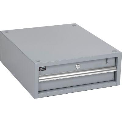 """6""""H Stacking Workbench Drawer, Gray"""