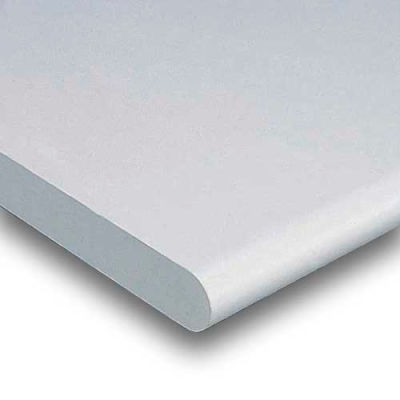 """48""""W x 30""""D x 1-5/8"""" Thick Plastic Laminate Safety Edge Workbench Top - Light Gray"""