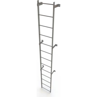 13 Step Steel Standard Uncaged Fixed Access Ladder, Gray - WLFS0113