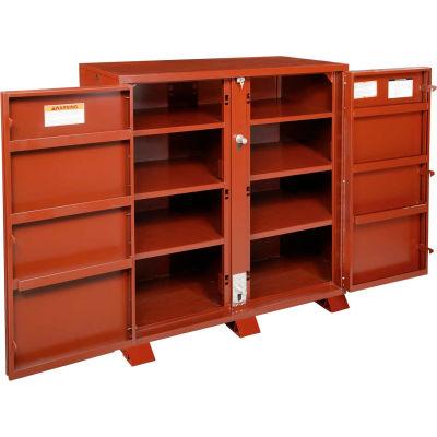 """JOBOX 1-694990 60-7/8 W x 24-1/2D x 60-1/4H"""" Heavy Duty Cabinet Job Site Box"""