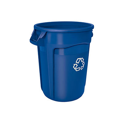 Rubbermaid® Brute 2632-73 Round Recycling Container, 32 Gallon - Blue