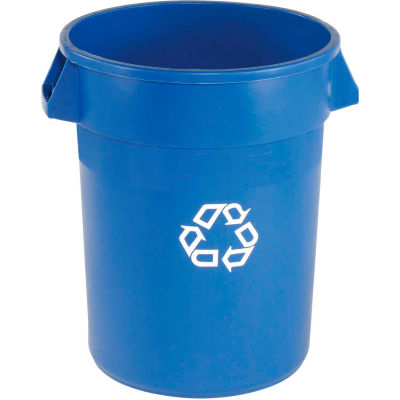 Rubbermaid® Recycling Can, 44 Gallon, Blue
