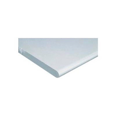 """Global Industrial™ 72""""W x 30""""D x 1-1/4""""Thick ESD Safety Edge Workbench Top - White"""
