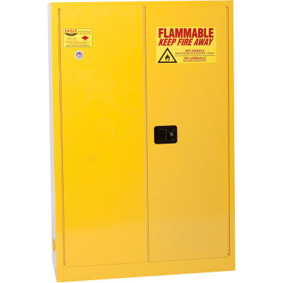 Eagle Flammable Cabinet with Self Close Double Door 45 Gallon