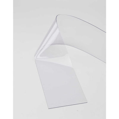 """Replacement 12"""" x 12' Standard Clear Strip for Strip Curtain Doors"""